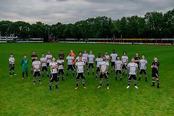 "Photoshoot of the selection 2020-2021, sat 1 of VV Maarssen with the Corona rule ""1.5 meters away"" on 16 June 2020, sports park Daalseweide in Maarssen."