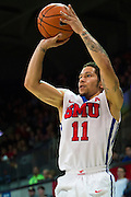 DALLAS, TX - DECEMBER 29: Nic Moore #11 of the SMU Mustangs shoots the ball against the Midwestern State Mustangs on December 29, 2014 at Moody Coliseum in Dallas, Texas.  (Photo by Cooper Neill/Getty Images) *** Local Caption *** Nic Moore