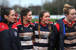 Bristol Ladies post-match huddle - Mandatory by-line: Paul Knight/JMP - 03/02/2018 - RUGBY - Cleve RFC - Bristol, England - Bristol Ladies v Harlequins Ladies - Tyrrells Premier 15s