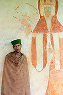 A young Ethiopian man at Kebran Gabriel Monastery, located on an island in Lake Tana, Ethiopia