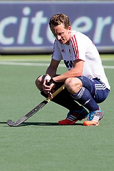 THE HAGUE - Rabobank Hockey World Cup 2014 - 13-06-2014 - MEN - SEMI-FINAL THE NETHERLANDS - ENGLAND 1-0 - Dan Fox.<br /> Copyright: Willem Vernes