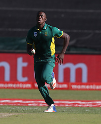 Kagiso Rabada of South Africa during the 3rd ODI match between South Africa and Australia held at Kingsmead Stadium in Durban, Kwazulu Natal, South Africa on the 5th October  2016<br /> <br /> Photo by: Steve Haag/ RealTime Images