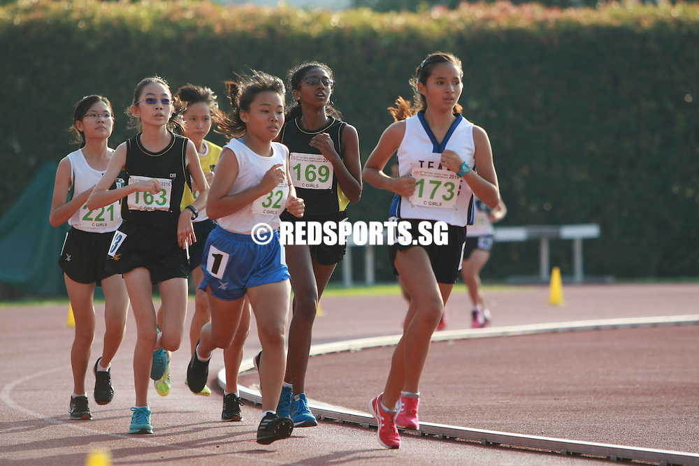 Bishan Stadium, Thursday, April 21, 2016 — Elizabeth Liau of St Nicholas Girls' blazed past the competition to take home the gold for the C Division Girls' 3000m at the 57th National Inter-School Track and Field Championships with a timing of 11 minutes 59.43 seconds.