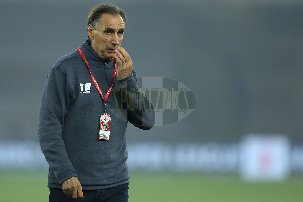 Miguel Angel Portugal head coach of Delhi Dynamos FC  during match 43 of the Hero Indian Super League between Delhi Dynamos FC and Kerala Blasters FC  held at the Jawaharlal Nehru Stadium, Delhi, India on the 10th January 2018<br /> <br /> Photo by: Arjun Singh  / ISL / SPORTZPICS