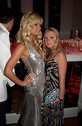 Paris Hilton and Brooke Hogan. Paris Hilton's Fragrance Launch Party at Il Bottaccio, Grosvenor Place. London. 16 May 2005. . ONE TIME USE ONLY - DO NOT ARCHIVE  © Copyright Photograph by Dafydd Jones 66 Stockwell Park Rd. London SW9 0DA Tel 020 7733 0108 www.dafjones.com