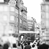 people walking through the centre of Copenhagen