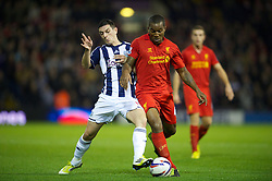 26.09.2012, The Hawthorns, West Bromwich, ENG, Capital One Cup, West Bromwich Albion vs FC Liverpool, im Bild Liverpool's Andre Wisdom in action against West Bromwich Albion during the 3rd Round Match of Capital One Cup between West Bromwich Albion vs Liverpool FC at the Hawthorns, West Bromwich, United Kingdom on 2012/09/26. EXPA Pictures © 2012, PhotoCredit: EXPA/ Propagandaphoto/ David Rawcliff..***** ATTENTION - OUT OF ENG, GBR, UK *****