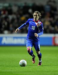 Luka Modric (Real Madrid) of Croatia - Photo mandatory by-line: Joe Meredith/JMP - Tel: Mobile: 07966 386802 26/03/2013 - SPORT - FOOTBALL -  Liberty Stadium - Swansea -  Wales V Croatia - WORLD CUP QUALIFIER