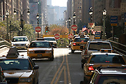 heavy traffic on Park Avenue NYC looking down town from Grand Central