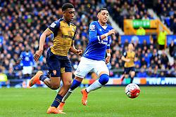 Arsenal's Alex Iwobi attacks - Mandatory byline: Matt McNulty/JMP - 19/03/2016 - FOOTBALL - Goodison Park - Liverpool, England - Everton v Arsenal - Barclays Premier League