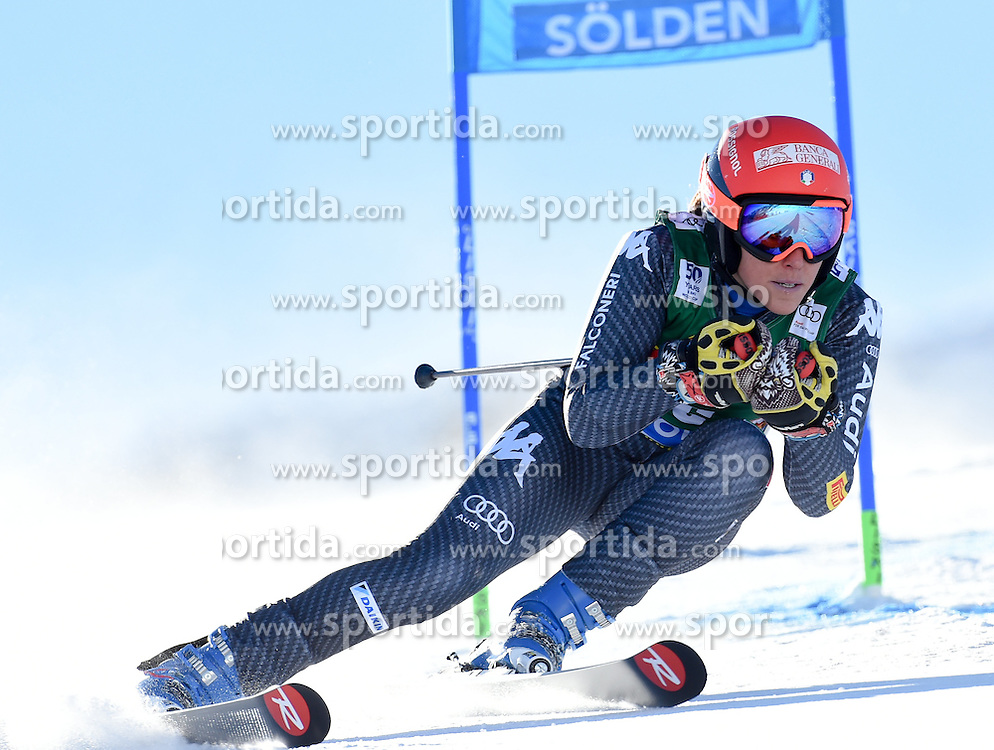 22.10.2016, Rettenbachferner, Soelden, AUT, FIS Weltcup Ski Alpin, Soelden, Riesenslalom, Damen, 1. Durchgang, im Bild Federica Brignone of Italy // in action during 1st run of ladies Giant Slalom of the FIS Ski Alpine Worldcup opening at the Rettenbachferner in Soelden, Austria on 2016/10/22. EXPA Pictures © 2016, PhotoCredit: EXPA/ Erich Spiess
