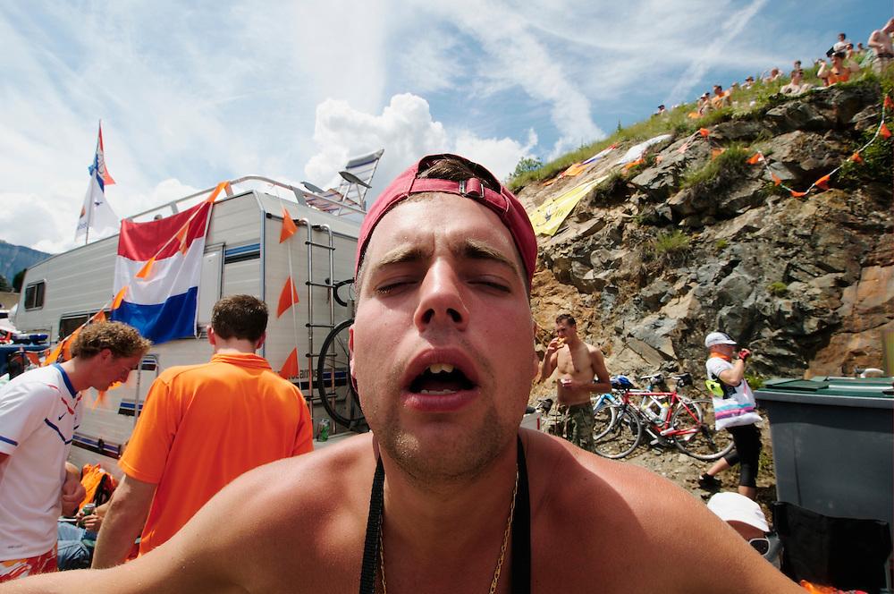 Dutch corner drunk. Tour de France. Alp D'Huez 2011.