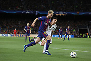 IVAN RAKITIC of FC Barcelona evades ALESSANDRO FLORENZI of AS Roma during the UEFA Champions League, quarter final, 1st leg football match between FC Barcelona and AS Roma on April 4, 2018 at Camp Nou stadium in Barcelona, Spain - Photo Manuel Blondeau / AOP Press / ProSportsImages / DPPI