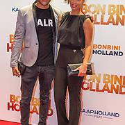 NLD/Amsterdam/20151207- Filmpremiere Bon Bini Holland, Sahron Doorson en partner Brunno Monero Tavares