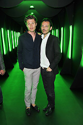 Left to right, STEPHEN BACCARI and MATTHEW WILLIAMSON at a party to launch the Dom Perignon Luminous label held at No.1 Mayfair, London on 24th May 2011.