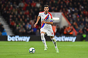 Luka Milivojevic (4) of Crystal Palace on the attack during the Premier League match between Bournemouth and Crystal Palace at the Vitality Stadium, Bournemouth, England on 1 October 2018.