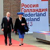 Koningin Beatrix en president Poetin bezoeken de Hermitage