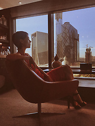 "Coco Rocha releases a photo on Twitter with the following caption: """"The best part of a little jet lag is watching the sun rise. #Beijing #China 🇨🇳"""". Photo Credit: Twitter *** No USA Distribution *** For Editorial Use Only *** Not to be Published in Books or Photo Books ***  Please note: Fees charged by the agency are for the agency's services only, and do not, nor are they intended to, convey to the user any ownership of Copyright or License in the material. The agency does not claim any ownership including but not limited to Copyright or License in the attached material. By publishing this material you expressly agree to indemnify and to hold the agency and its directors, shareholders and employees harmless from any loss, claims, damages, demands, expenses (including legal fees), or any causes of action or allegation against the agency arising out of or connected in any way with publication of the material."
