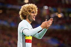 LILLE, FRANCE - Friday, July 1, 2016: Belgium's Marouane Fellaini during the UEFA Euro 2016 Championship Quarter-Final match against Wales at the Stade Pierre Mauroy. (Pic by David Rawcliffe/Propaganda)