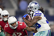 ARLINGTON, TX - AUGUST 26:  Bo Scarbrough #36 of the Dallas Cowboy runs the ball against the Arizona Cardinals at AT&T Stadium during week 3 of the preseason on August 26, 2018 in Arlington, Texas.  The Cardinals defeated the Cowboys 27-3.  (Photo by Wesley Hitt/Getty Images) *** Local Caption *** Bo Scarbrough