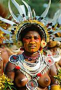 Woman at Sing Sing tribal gathering  Mount Hagen, Papua New Guinea