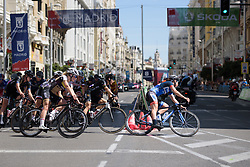 Eileen Roe & Giorgia Bronzini lead the peloton at Madrid Challenge by la Vuelta 2017 - a 87 km road race on September 10, 2017, in Madrid, Spain. (Photo by Sean Robinson/Velofocus.com)