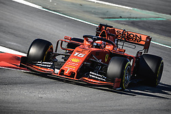 February 28, 2019 - Barcelona, Catalonia, Spain - CHARLES LECLERC (MON) from team Ferrari drives in his SF90 during day seven of the Formula One winter testing at Circuit de Catalunya. (Credit Image: © Matthias OesterleZUMA Wire)