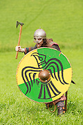Viking warrior at the Dragonslayer fantasy event.
