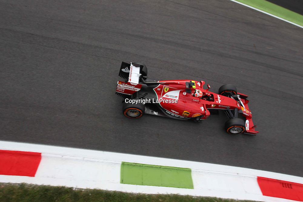 &copy; Photo4 / LaPresse<br /> 05/09/2014 Monza, Italy<br /> Sport <br /> Grand Prix Formula One Italy 2014<br /> In the pic: Kimi Raikkonen (FIN) Scuderia Ferrari F14-T