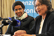 CAPE TOWN, SOUTH AFRICA - Friday 22 August 2014, Dr Phumzile Mlambo-Ngcuka, Under-Secretary-General and Executive Director of UN (United Nations) Women from New York and former South African Deputy President, listens to Patricia De Lille, Executive Mayor of Cape Town, during the announcement that the City of Cape Town will join the United Nations Women Safe Cities Global Initiative designed to assist local authorities in making cities safer for women and girls. Cape Town is the first city in southern Africa to join the UN Women Safe Cities Global Initiative, and looks forward to learning from and sharing its experiences with other international cities and African counterparts in Kigali and Nairobi.<br /> Photo by Roger Sedres/ImageSA