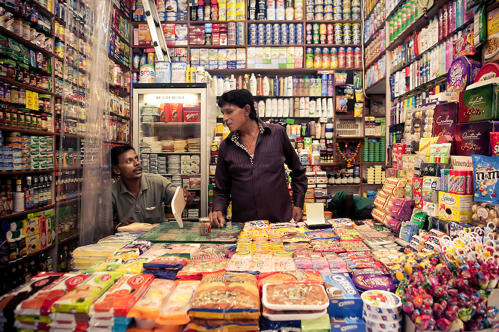 A shopkeeper at INA market, New Delhi