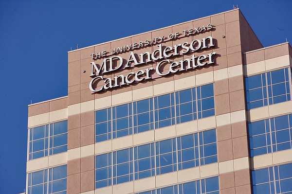 MD Anderson Cancer Center at the Texas Medical Center in Houston.