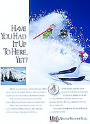 Magazine ad for Ski Utah to promote the Utah ski industry