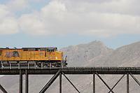 Union Pacific crossings at El Paso del Norte, site of the Camino Real or historic road to Santa Fe.