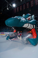 KELOWNA, CANADA - NOVEMBER 1:  Jordon Cooke #30 of the Kelowna Rockets enters the ice against the Kamloops Blazers at the Kelowna Rockets on November 1, 2012 at Prospera Place in Kelowna, British Columbia, Canada (Photo by Marissa Baecker/Shoot the Breeze) *** Local Caption ***