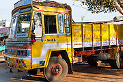 Yellow truck in India
