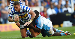 Cape Town-181020 Western Province Dan Kriel  challenged by Trevor Nyakane of  the Vodacom Blue Bulls in the Currie Cup Semi-final game at Newlands  .Photographer:Phando Jikelo/African News Agency(ANA)