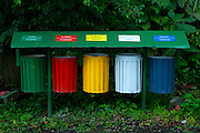 Costa Rica, El Castillo, Rainforest, Recycle Bins