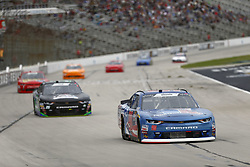November 3, 2018 - Ft. Worth, Texas, United States of America - Brandon Brown (90) battles for position during the O'Reilly Auto Parts Challenge at Texas Motor Speedway in Ft. Worth, Texas. (Credit Image: © Justin R. Noe Asp Inc/ASP via ZUMA Wire)
