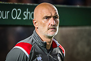 Lincoln City Caretaker Manager Andy Warrington before the EFL Sky Bet League 1 match between Rochdale and Lincoln City at the Crown Oil Arena, Rochdale, England on 17 September 2019.