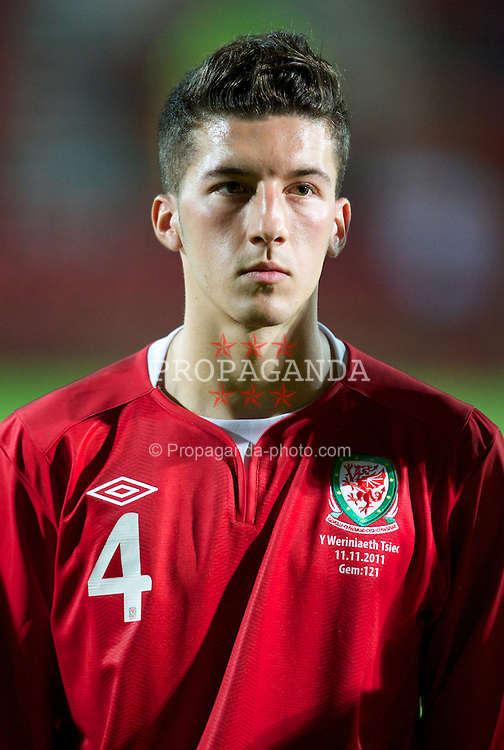 WREXHAM, WALES - Monday, October 11, 2011: Wales' Lee Lucas before the UEFA Under-21 Championship Qualifying Group 3 match against the Czech Republic at the Racecourse Ground. (Pic by Chris Brunskill/Propaganda)