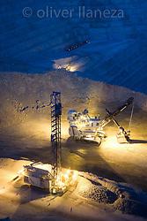 FOTÓGRAFO: Oliver Llaneza ///<br /> <br /> nocturna de Minera Escondida en el cambio de turno