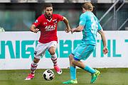 ALKMAAR - 22-04-2017, AZ - FC Twente, AFAS Stadion, AZ speler Alireza Jahanbakhsh, FC Twente speler Jeroen van der Lely