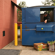 Pittsboro, NC - May 13: Dumpster-diving with Trace R. in Pittsboro. (Photo by Logan Mock-Bunting)