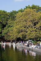 boating lake in central park in New York City in October 2008