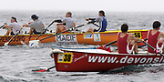 St Peter's Port, Guernsey, CHANNEL ISLANDS,  crews at the turn Boat 38 Devon Signs from Exmouth RC2006, Boat 56   Macif Assurance from Cherbourg RC. FISA Coastal Rowing  Challenge,  03/09/2006.  Photo  Peter Spurrier, © Intersport Images,  Tel +44 [0] 7973 819 551,  email images@intersport-images.com