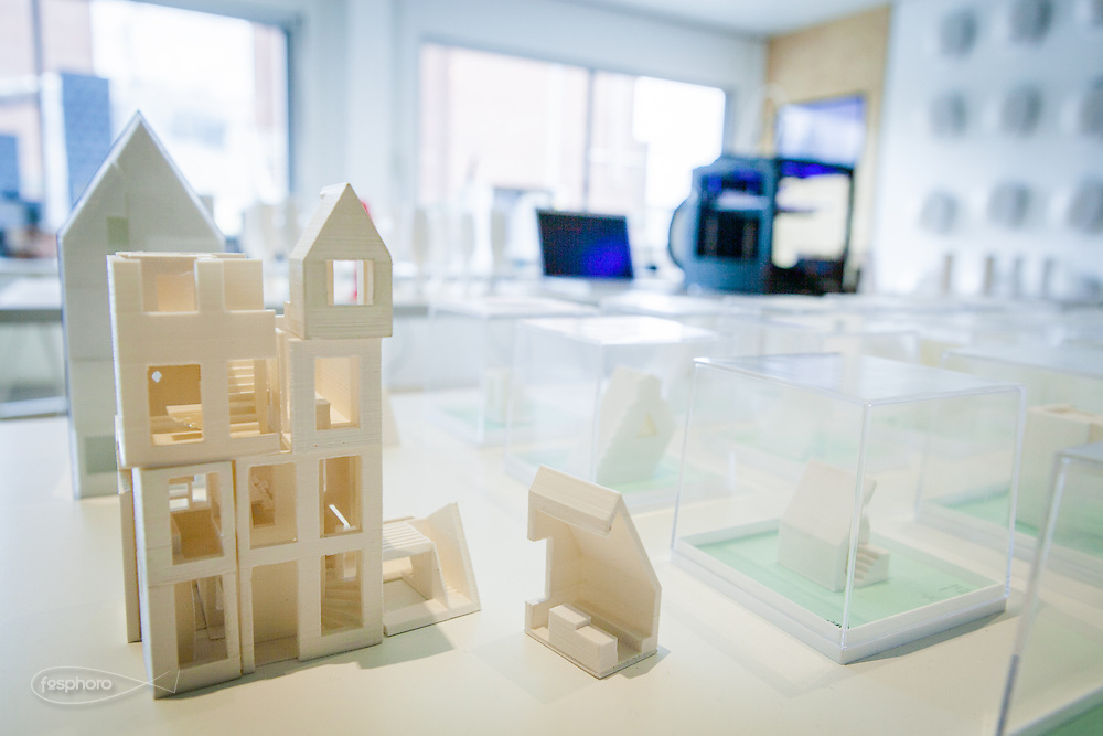 Amsterdam, May 2014 -3D Print Canal House, The modular design of the house.