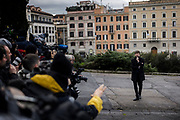 Italy's Cultural Heritage and Activities Minister Dario Franceschini before visit at the Domus Aurea, the house built by Roman Emperor Nero, on January 11, 2018 in Rome. Christian Mantuano / OneShot