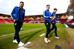 Liam Sercombe, Tom Lockyer and Tom Nichols of Bristol Rovers arrive at Doncaster Rovers - Mandatory by-line: Robbie Stephenson/JMP - 26/03/2019 - FOOTBALL - Keepmoat Stadium - Doncaster, England - Doncaster Rovers v Bristol Rovers - Sky Bet League One