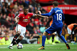 Luis Antonio Valencia of Manchester United takes on Gylfi Sigurdsson of Everton - Mandatory by-line: Matt McNulty/JMP - 17/09/2017 - FOOTBALL - Old Trafford - Manchester, England - Manchester United v Everton - Premier League